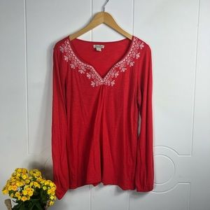 Lucky Brand Long Sleeve Embroidered Small